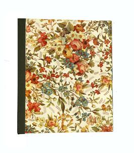 Ringbuchordner für DinA4 , 3 ,5 cm breit, Italienisches Papier,elegante Blumen hell,olivegrün
