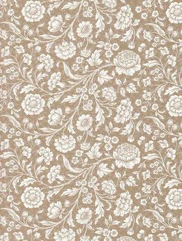 Italienisches Papier Carta Varese große Blumen gold