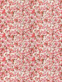 Florentiner / Italienisches Papier  50 x 70 cm kleine Ornamente pink rosa