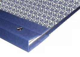 Fotoalbum Schraubalbum DinA4  Carte Varese Blumenfeld blau ,mit geschlossenem Buchrücken