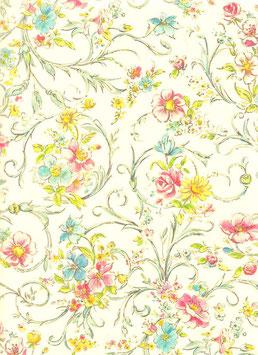 Florentiner / Italienisches Papier  50 x 70 cm Flora mit Golddruck