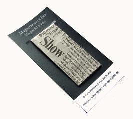 Magnetlesezeichen Zeitungsausschnitt Times