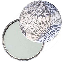 Taschenspiegel,Handspiegel, oder Flaschenöffner mit Magnet  ,Button, 59 mm Durchmesser, Circulus mit Golddruck