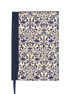 Kalender / Buchkalender / Taschenkalender 2020 DinA6, Carta Varese Papier Ornamente blau ,weißes Papier