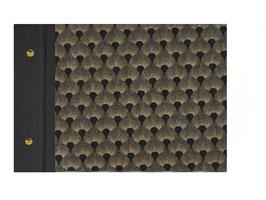 Fotoalbum Schraubalbum DinA4  , Querformat, ohne Inhalt,Baumwollpapier Pfauenmuster , geschlossener Buchrücken