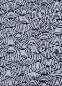 Nepal - Papier / Lokta Papier Wellen mildes blau drachenblau