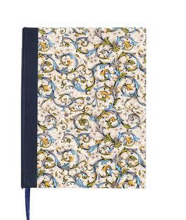 Kalender / Buchkalender / Tageskalender 2021 DinA5, Florentiner Papier, Antique blau
