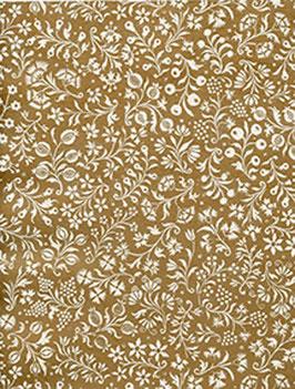 Florentiner / Italienisches Papier  50 x 70 cm Blumen bronce