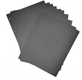Zusatzblätter 10 Fotoblätter / für Fotoalben / Schraubalben , schwarz, hochformat, zweifach gerillt , vierfach gelocht