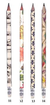 Bleistifte mit verschiedenen Motiven, italienischen Papieren