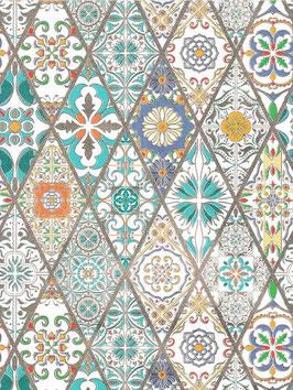 Florentiner / Italienisches Papier  50 x 70 cm Alhambra mit Golddruck