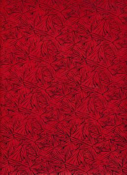 Nepal - Papier / Lokta Papier, Linien schwarz auf rot