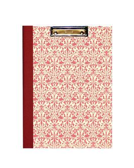Klemmbrett Mappe DinA4 , Carta Varese Papier Ornamente rot