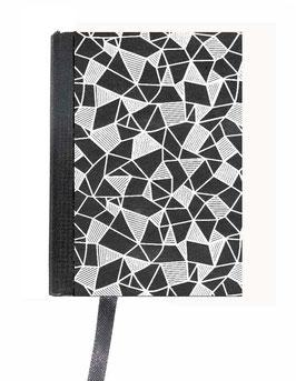 Kalender / Buchkalender / Taschenkalender 2019 DinA7, Geometrisches Muster schwarz weiß