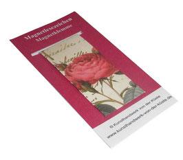 Magnetlesezeichen Rosenkomposition rote Rose