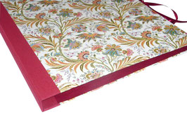 Ringordner 2cm breit, Florentiner Papier buntes Fahnenkraut dunkelrot