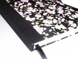 Schreibbuch Tagebuch , DinA5, Kirschblüten schwarz rosa