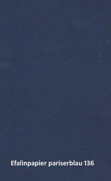 Efalinpapier pariserblau,glatt,  70 cm x 50 cm, Gewicht: 120 g/m²
