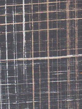 """Baumwoll Papier handgeschöpft, aus Nordindien   """" schwarz gold silber """""""