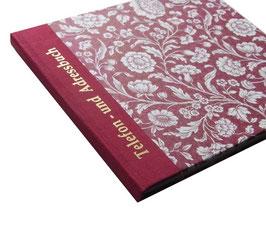 Adressbuch Telefonbuch, große Blumen rot