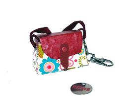 Tampon Tasche / Anhänger Mini ,Blümchen von Kunsthandwerk von der Küste