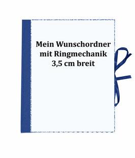 Wunschordner Ringordner 3,5 cm breit,mit Wunschpapier