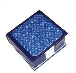 Zettelbox blau mit Sternchen