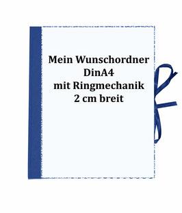 Wunschordner Ringordner 2cm breit,mit Wunschpapier
