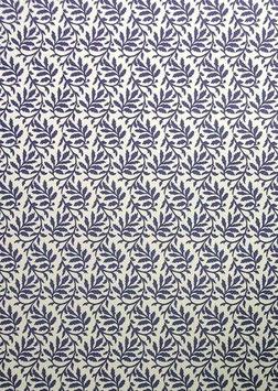 Italienisches Papier Carta Varese Blätterranken blau