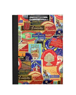 Klemmbrett Mappe DinA4 , Florentiner Papier Hotels