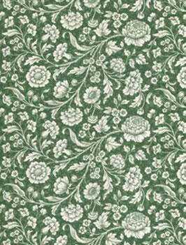 Italienisches Papier Carta Varese große Blumen grün
