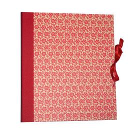 Ringbuchordner für DinA4 Blumenfeld rot, 3 cm breit