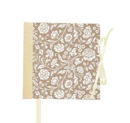 Gästebuch / Schreibbuch / Tagebuch, Carte Varese große Blumen gold beige