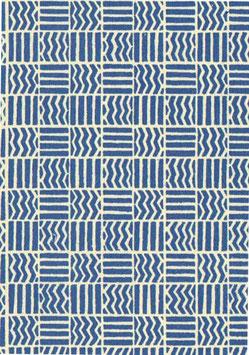 Italienisches Papier Carta Varese  Muster Quadrate blau