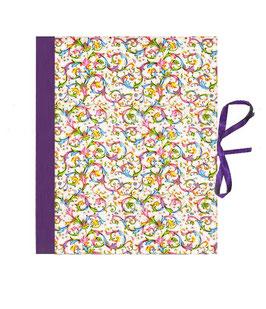 Ordner / Ringordner  DinA4  ,Florentiner Papier Trend lila mit Golddruck, 3 cm breit