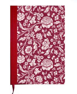 Kalender / Buchkalender / Tageskalender 2019 DinA5, Carta Varese Papier große Blumen rot