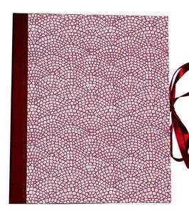 Ringordner 2cm breit, Carta Varese Papier Hölzer bordaux rot