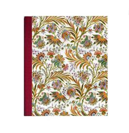 Ringordner DinA4 mit Bügelmechanik 8,5 cm breit,Florentiner Papier buntes Fahnenkraut rot
