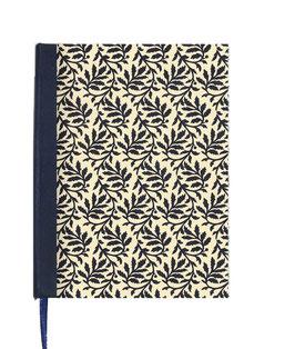 Kalender / Buchkalender / Tageskalender 2019 DinA5, Blätterranken blau