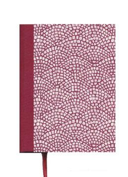 Kalender / Buchkalender / Tageskalender 2021 DinA5, Carta Varese Papier Hölzer bordaux rot