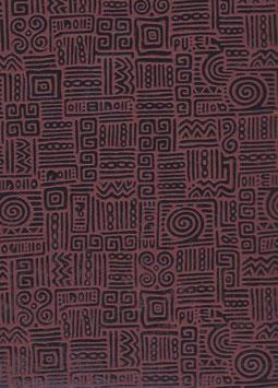 """Baumwoll Papier handgeschöpft, aus Nordindien   """" Azteka braun"""