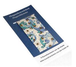 Magnetlesezeichen Ornamente blau gold