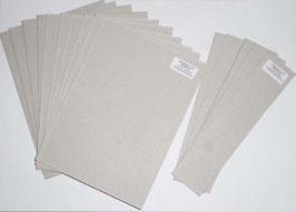 Graupappe / Buchbinderpappe für fünf DinA5 Bücher