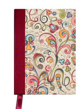 Kalender / Buchkalender / Taschenkalender 2018 DinA7, Florentiner Papier kleine Ornamente bunt gold