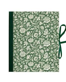 Ordner / Ringordner große Blumen grün, 3 cm breit