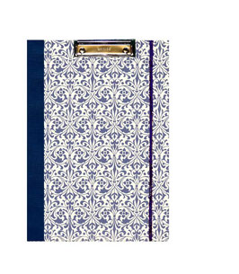 Klemmbrett Mappe DinA4 , Carta Varese Papier Ornamente blau