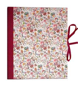 Ringordner DinA4, 2cm breit, Florentiner Papier kleine Ornamente bunt gold rot
