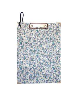 Klemmbrett Florentiner Papier Ornamente blau
