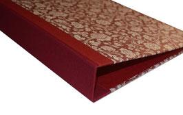 Ringordner DinA4 mit Bügelmechanik 6 cm breit, große Blumen bordaux rot