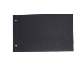Zusatzpaket,für kleine Fotoalben, 10 Fotoblätter 300g , schwarz,Querformat.zweifach gelocht einmal gerillt